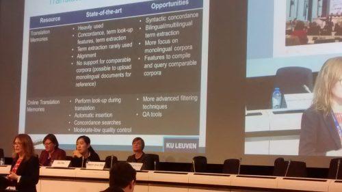 Iulianna van der Lek-Ciudin presenting her research on how translators work in real life